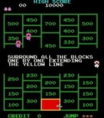 Amidar for Arcade screenshot thumbnail - Game instructions are displayed during attract mode.