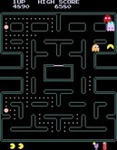 Pac-Man Plus for Arcade screenshot thumbnail - Uh oh, trapped in a corner!