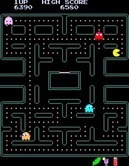 Pac-Man Plus for Arcade screenshot thumbnail - The game gets faster as the levels progress...