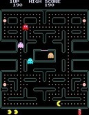 Pac-Man Plus for Arcade screenshot thumbnail - Pac-Man munches on some dots...