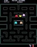 Pac-Man Plus for Arcade screenshot thumbnail - Only a few dots left...can Pac-Man get them?