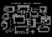 Cycle Knight for Atari 8-bit - Map of the game world.