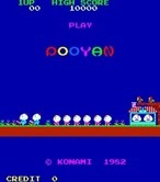Pooyan for Arcade - Title screen (Japanese version).