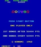 Pooyan for Arcade - Push 1 player button to start the game!