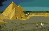 Chrono Quest for Atari ST - Arrived at the pyramids...
