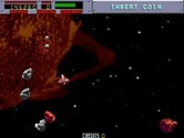 Blasteroids for Arcade - Large asteroids split into small ones when shot...