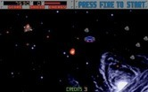 Blasteroids for Amiga - Here comes an attacking UFO.