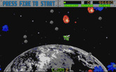 Blasteroids for Atari ST - Blast away! This sector has numerous asteroids...