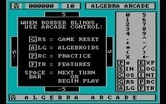 Algebra Arcade for IBM PC/Compatibles - Choose some game options.