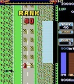 Road Fighter for Arcade - Game start.