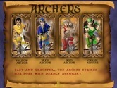 Gauntlet: Legends for Arcade - Game attract mode; about the Archers.