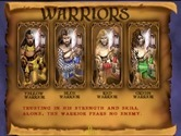 Gauntlet: Legends for Arcade - Game attract mode; about the Warriors.