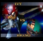 SoulCalibur for Arcade - First fight; Ivy vs. Hwang.