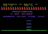 Avalanche for Atari 8-bit - Title screen.