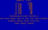 BC's Quest for Tires for IBM PC/Compatibles - The high score screen.
