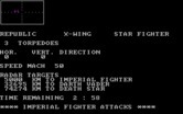 XWing Fighter for IBM PC/Compatibles - An imperial fighter attacks.