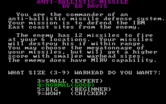 Anti-Ballistic-Missile for IBM PC/Compatibles - Game instructions.