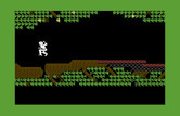 Below the Root for Commodore 64 - Jumping over a gap in the tree.