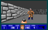 Wolfenstein 3D for IBM PC/Compatibles - Yikes, enemy spotted!