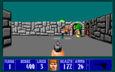 Wolfenstein 3D for IBM PC/Compatibles - Target hit!