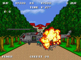 S.P.Y. Special Project Y for Arcade - Attacking another chopper at the end of the level...