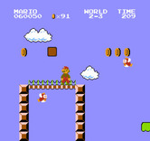 Super Mario Bros. for NES / Famicom - There are a number of gaps to avoid here as well...