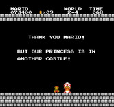 Super Mario Bros. for NES / Famicom - But our princess is in another castle!
