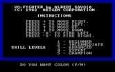 XO-Fighter for IBM PC/Compatibles - Title screen.