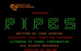 Pipes for IBM PC/Compatibles - Title screen.