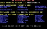 B-1 Nuclear Bomber for IBM PC/Compatibles - Your targets are...