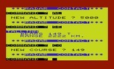 B-1 Nuclear Bomber for Commodore VIC-20 - Changing course...