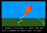 Bumble Games for Apple II screenshot thumbnail - A completed kite; try another picture now?