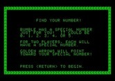 Bumble Games for Apple II screenshot thumbnail - Find Your Number game instructions.