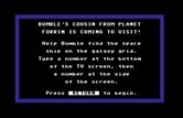 Bumble Games for Commodore 64 screenshot thumbnail - Bumble's Cousin game instructions.