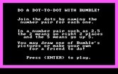 Bumble Games for IBM PC/Compatibles screenshot thumbnail - Dot to Dot game instructions.