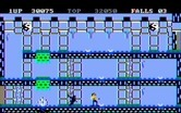 Bruce Lee for IBM PC/Compatibles screenshot thumbnail - The black ninja sneaks up from behind...