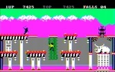 Bruce Lee for IBM PC/Compatibles screenshot thumbnail - Climbing up and down to different platforms...