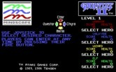 Gauntlet II for IBM PC/Compatibles - Select a character.