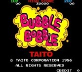 Bubble Bobble for Arcade - Title screen (Japanese version).