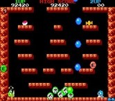 Bubble Bobble for Arcade - This level features numerous small platforms...