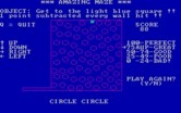 Amazing Maze for IBM PC/Compatibles screenshot thumbnail - Completed a circular maze; play again?