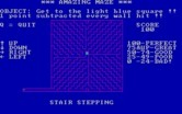 Amazing Maze for IBM PC/Compatibles screenshot thumbnail - Lots of tricky turns in the stair stepping maze.