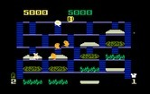 BurgerTime for Intellivision screenshot thumbnail - Here come the bad guys, better run!