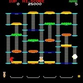 BurgerTime for Arcade screenshot thumbnail - Game start.
