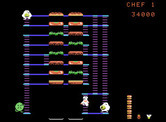 BurgerTime for ColecoVision - Not many places to escape on this level...