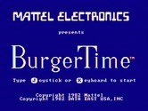 BurgerTime for IBM PC/Compatibles screenshot thumbnail - Title screen.