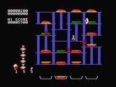 BurgerTime for IBM PC/Compatibles screenshot thumbnail - Gameplay on the easiest level.