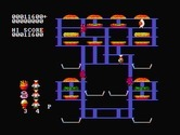 BurgerTime for IBM PC/Compatibles screenshot thumbnail - Each level features a different layout.