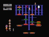 BurgerTime for IBM PC/Compatibles screenshot thumbnail - Careful, don't get trapped!
