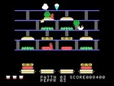 BurgerTime for TI-99/4A screenshot thumbnail - I've been caught by a pickel!